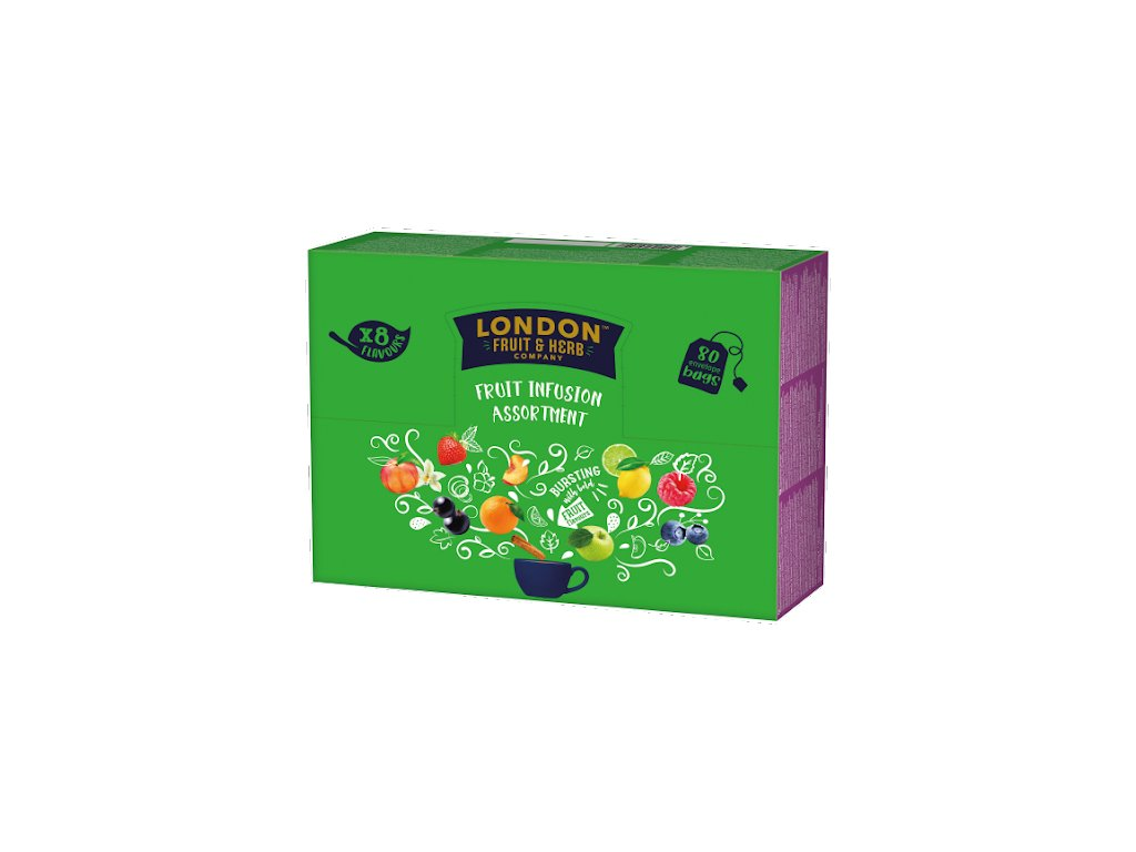 Čaj Retail Fruits Display - Směs ovocných čajů 80 sáčků London fruit and herbs