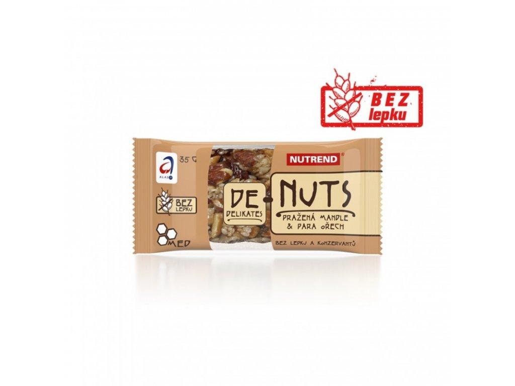Nutrend tyčinka DENUTS pražená mandle + para ořech 35g