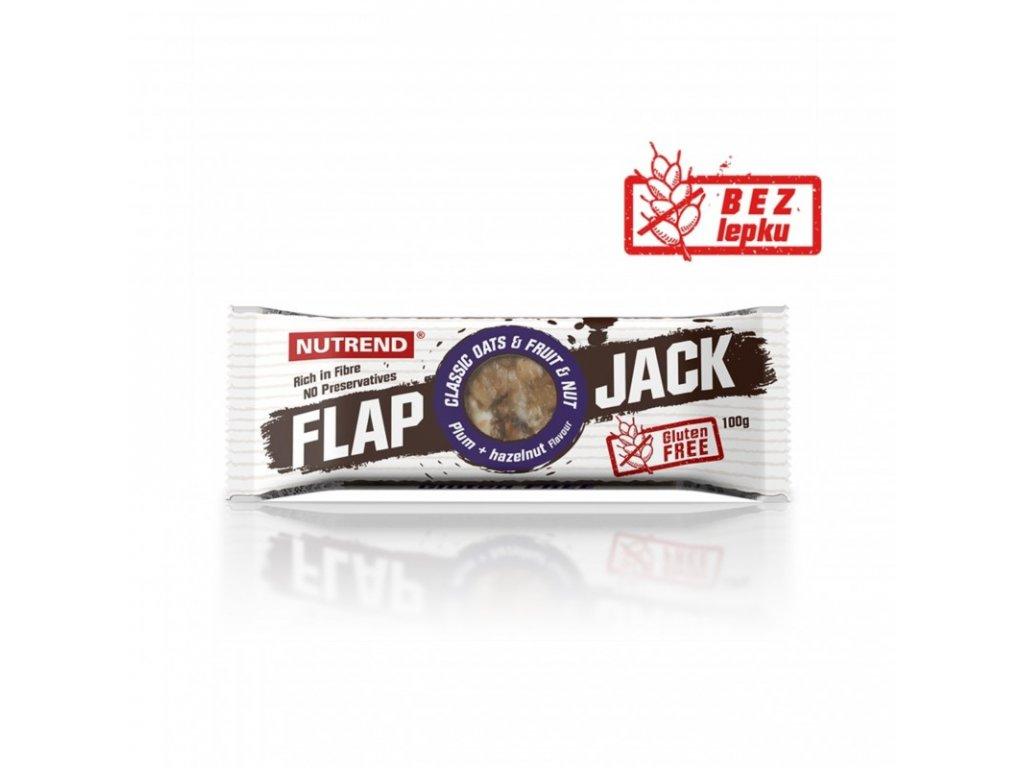Nutrend FLAPJACK GLUTEN FREE švestka + lískový ořech 100g