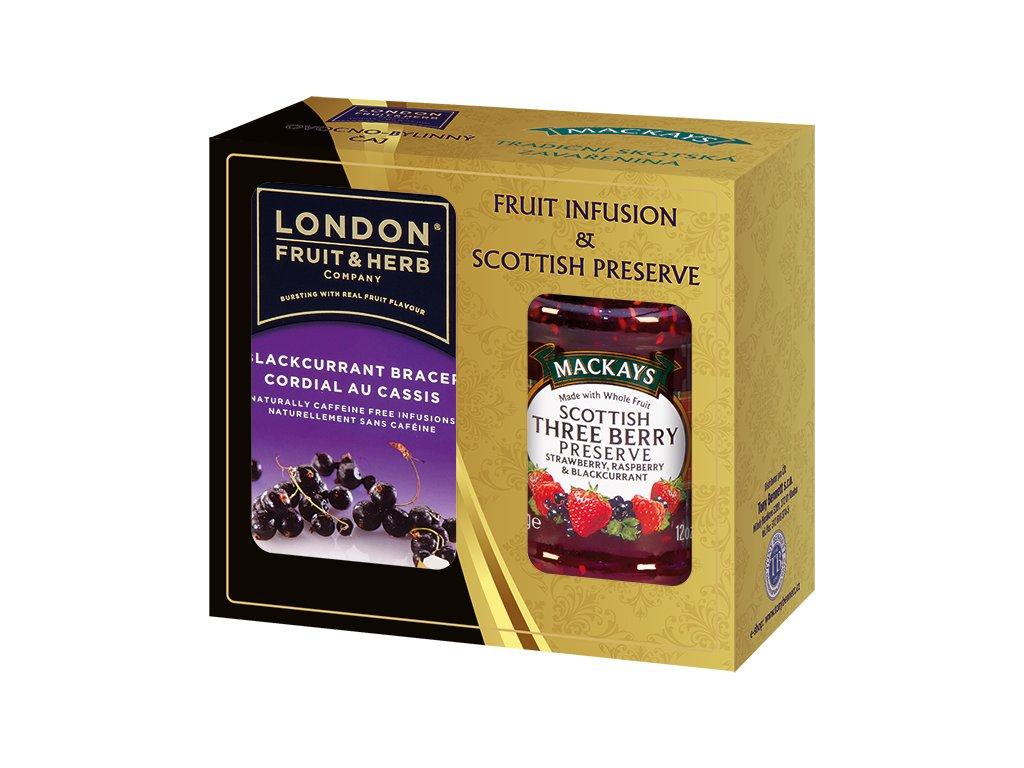 Gift Pack Blackcurrant Bracer - Dárková sada čaj Černý rybíz a Džem Three Berry