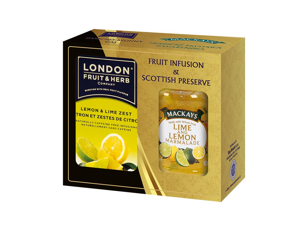 Gift Pack Lemon - Dárková sada čaj Citrón s limetkou a Džem Limetka s citrónem