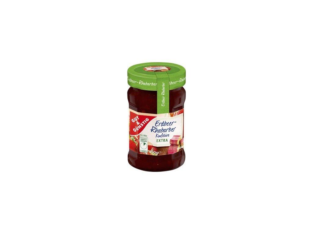 49538 erdbeer rhabarber konfiture extra jahodovo rebarborovy extra dzem 450g edeka