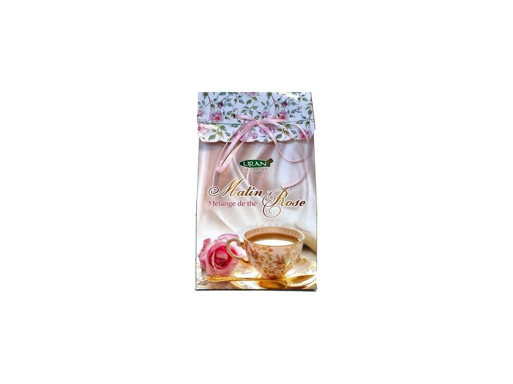 60209 1 matin rose ruzove rano s aroma aloe vera sypana smes cerneho a zeleneho caje 100g liran