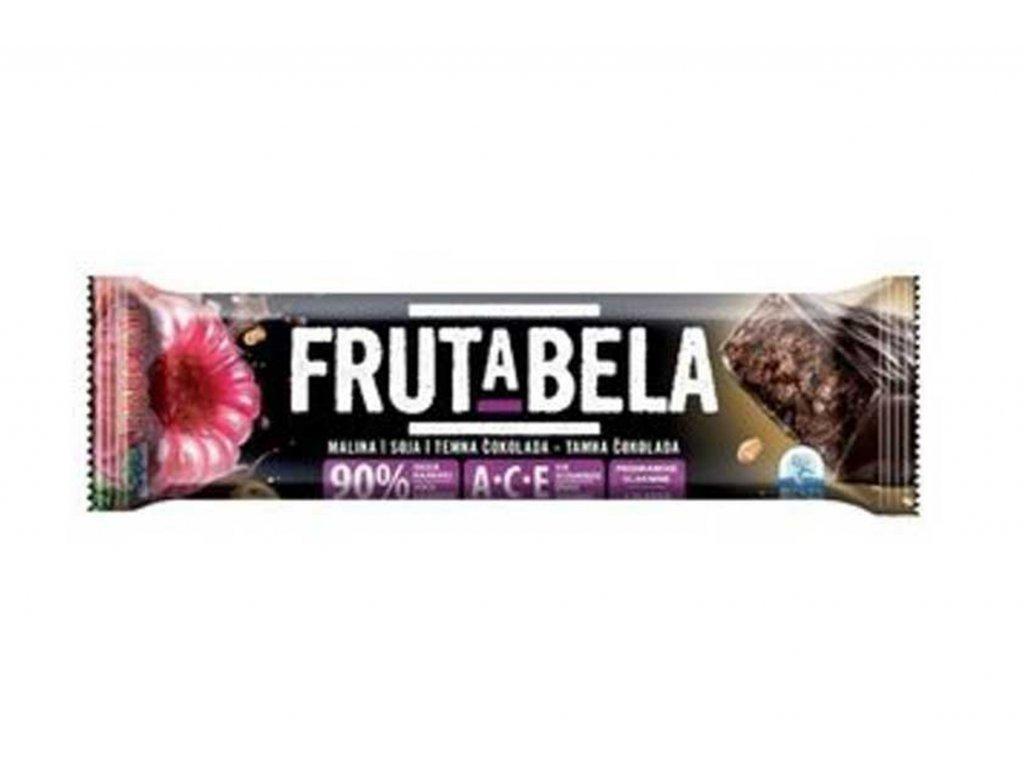 18704 fructal frutabela ovocna tycinka se sojou malinami v cokoladove poleve bez cukru 35 g