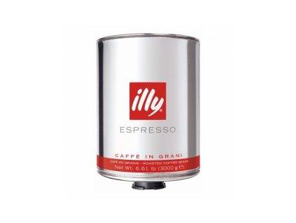 Káva Illy - středně pražená,zrnková 3 kg velká plechová dóza