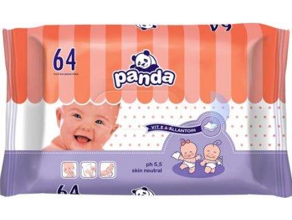 50444 panda vlhcene ubrousky 1x64ks