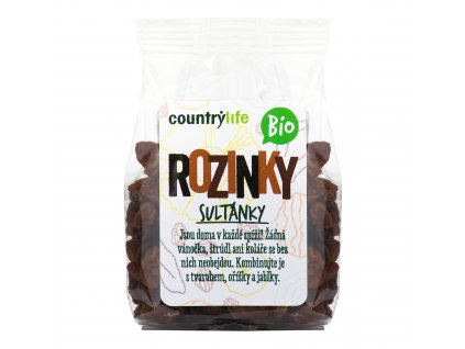55103 rozinky sultanky 100 g bio country life