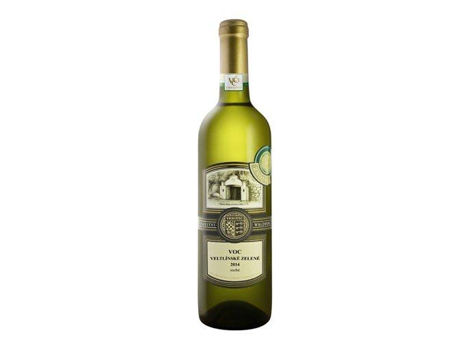 Veltlínské zelené 2014 VOC Znojmo 0,75 l Vinařství Waldberg
