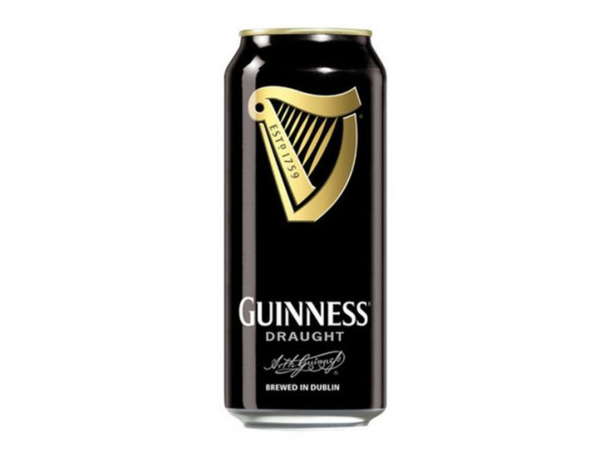 Guinness beer Stout Draught plech 0,44l 4,2%