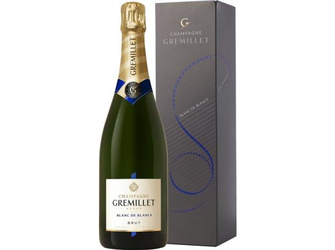 Champagne Gremillet Brut Blanc de Blancs v kartonku 0,75 l