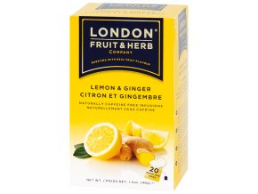 Čaj Ginger and Lemon - zázvor s citrónem 20 sáčků London fruit and herbs