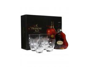 Hennessy X.O 0,7l Exclusive Set se 6ti skleničkami