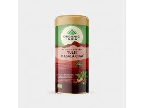 BIO Čaj Tulsi Masala  - směs bylin černý čaj exotické koření sypaný 100g Organic India