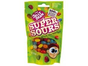 Jelly Bean Super Sours - želé fazolky super kyselé sáček 113g
