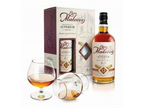 Malecon 12y se skleničkami nové balení