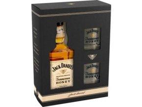 Jack Daniels Honey dárkové balení 0,7l + 2x sklenička