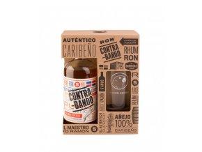 Rum Contrabando v dárkovém balení se skleničkou 38% 0,7l