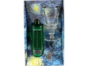 Absinth Staroplzenecký se sklenicí a lžičkou 64% 0,5 l Dárkové balení