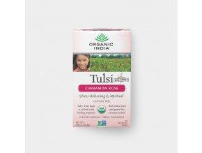 BIO Čaj Tulsi skořice s růží - bazalka a skořice s růží sáčkový 18ks Organic India