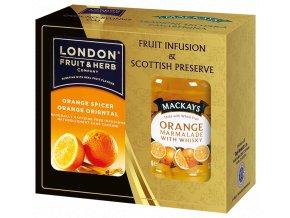 Gift Pack Orange - Dárková sada čaj Pomeranč se skořicí a Džem Pomeranč s whisky