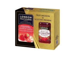 Gift Pack Strawberry - Dárková sada čaj Jahoda s vanilkou a Džem Jahoda