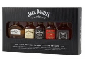 Jack Daniels dárková sada miniatur 5x 0,05l