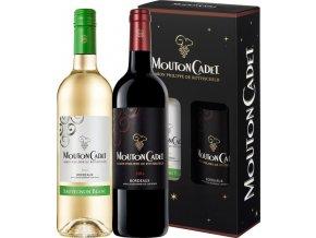 Dárkový set Mouton Cadet 2 x 0,75L, Bordeaux Sauvignon Blanc AOC + Bordeaux Rouge AOC