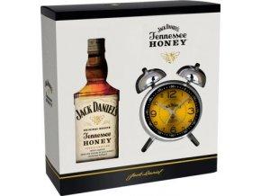 46862 whiskey jack daniels honey v darkovem baleni s budikem 35 0 7l