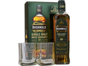 bushmills 10yo single malt whiskey with 2 glasses gift pack