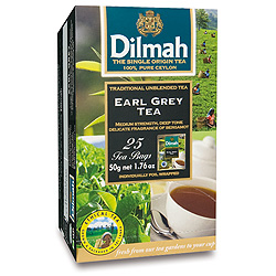 Dilmah (čaj) Čaj černý Earl Grey 25sáčků DILMAH