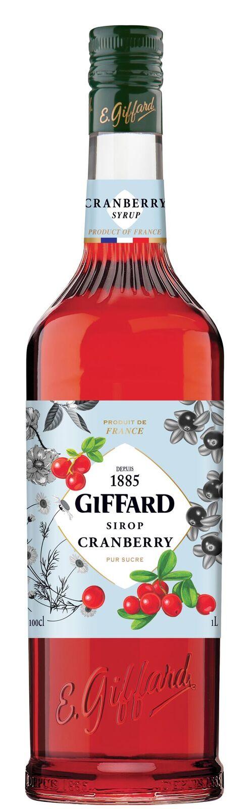Giffard (sirupy, likéry) Giffard Cranberry - brusinkový sirup 1l