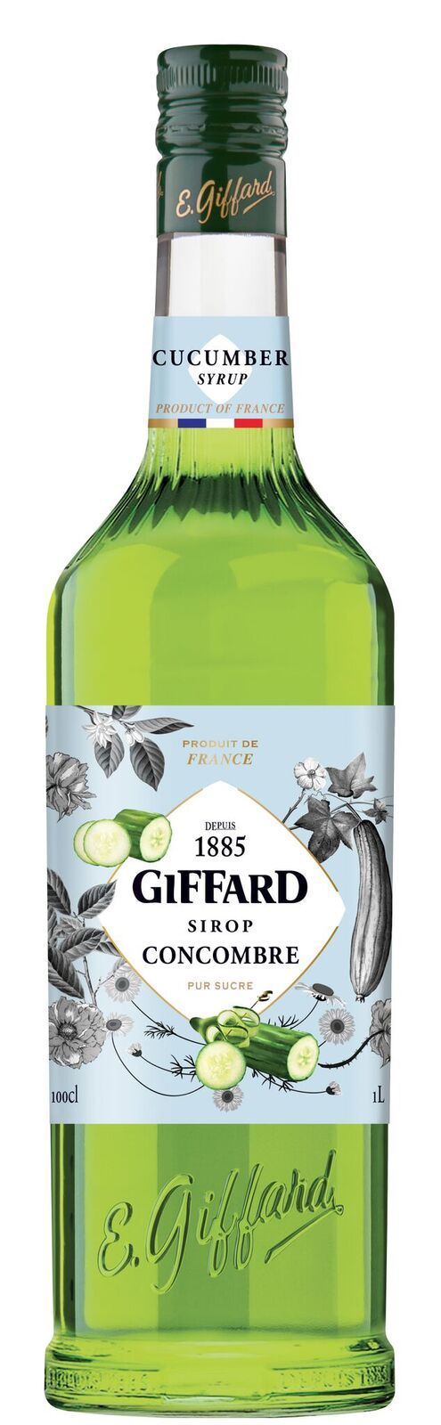 Giffard (sirupy, likéry) Giffard Cucumber - okurkový sirup 1l