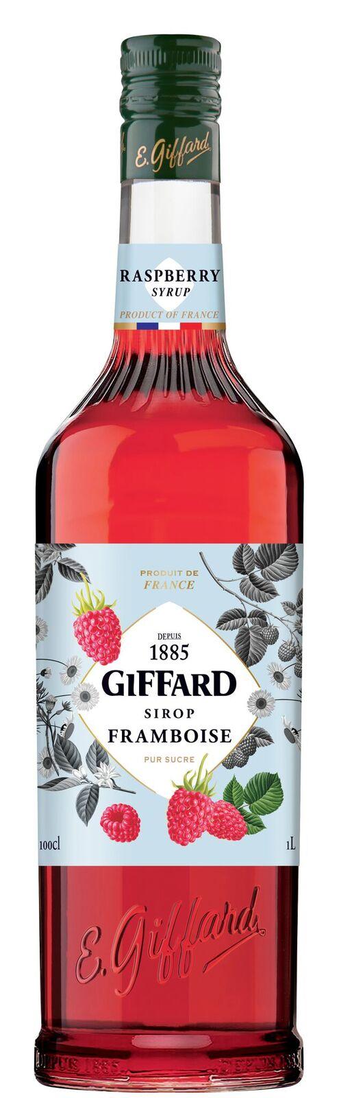 Giffard (sirupy, likéry) Giffard Raspberry - Malinový sirup 1l