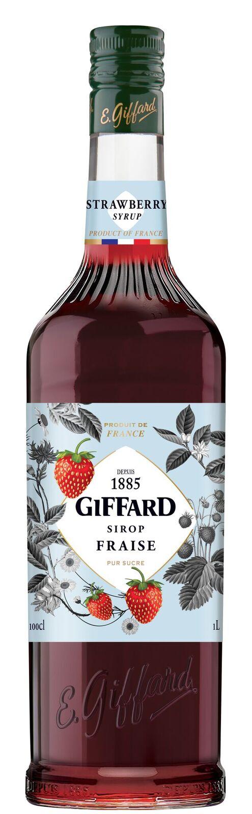 Giffard (sirupy, likéry) Giffard Strawberry - jahodový sirup 1l