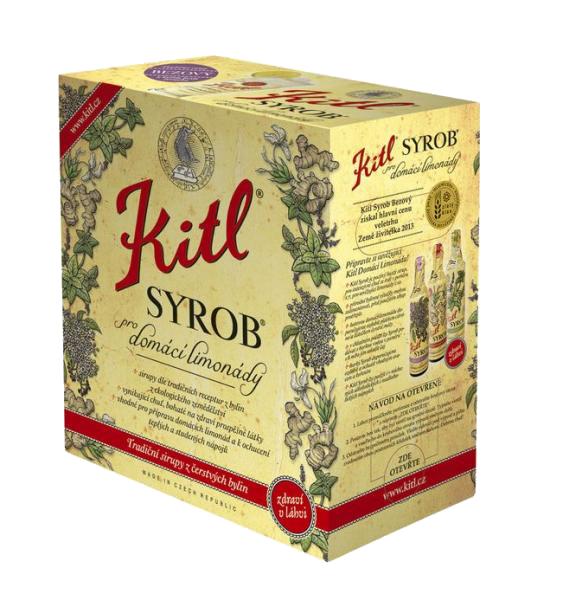 Kitl (sirupy, medovina) Syrob Mátový - mátový sirup 5l Kitl - velké balení