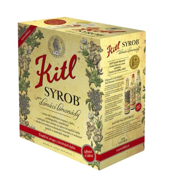Kitl (sirupy, medovina) Syrob Malinový - malinový sirup 5l Kitl - velké balení