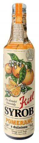 Kitl (sirupy, medovina) Syrob Pomeranč - pomerančový sirup 0,5l Kitl