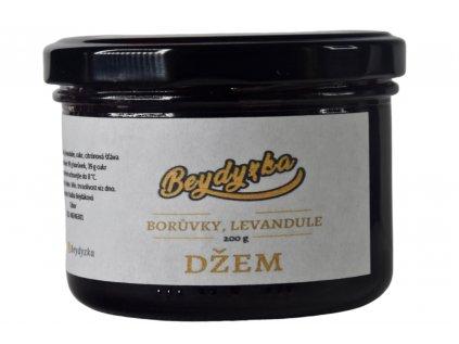 Bio domácí džem borůvky s levandulí