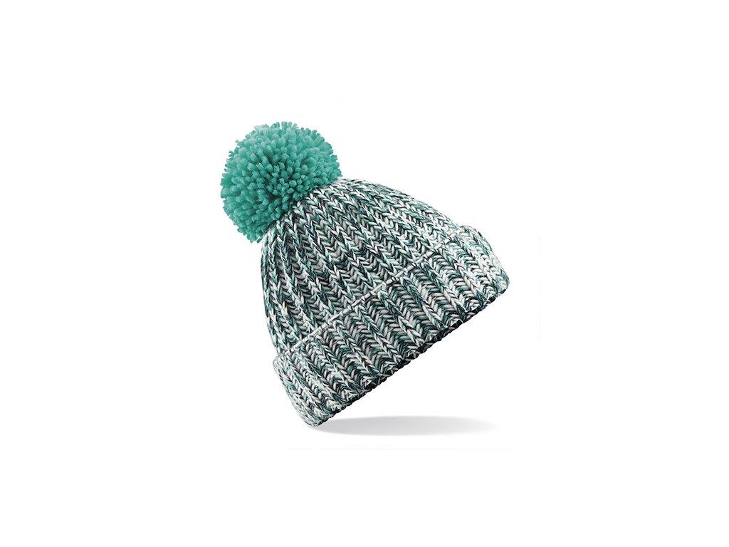 zimní čepice tyrkysová