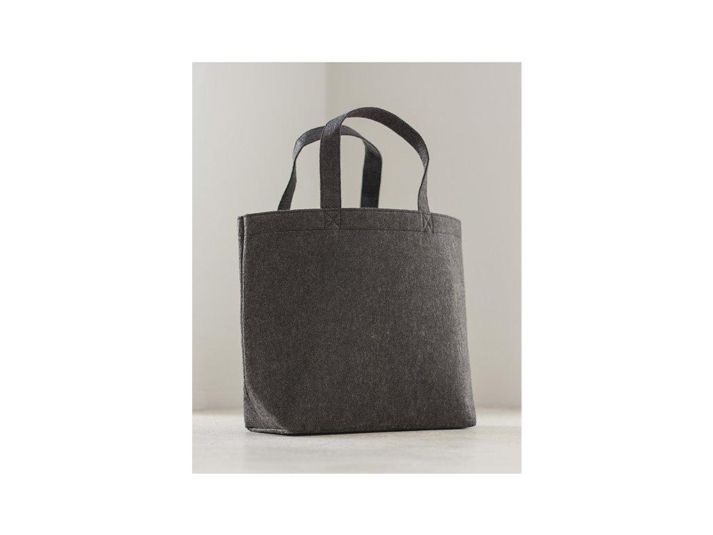 Velká plstěna nákupní taška (Velikost One Size, Barva Grey Melange)