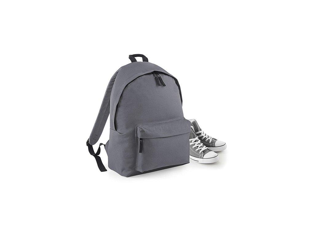 Batoh šedý Bagbase přední část