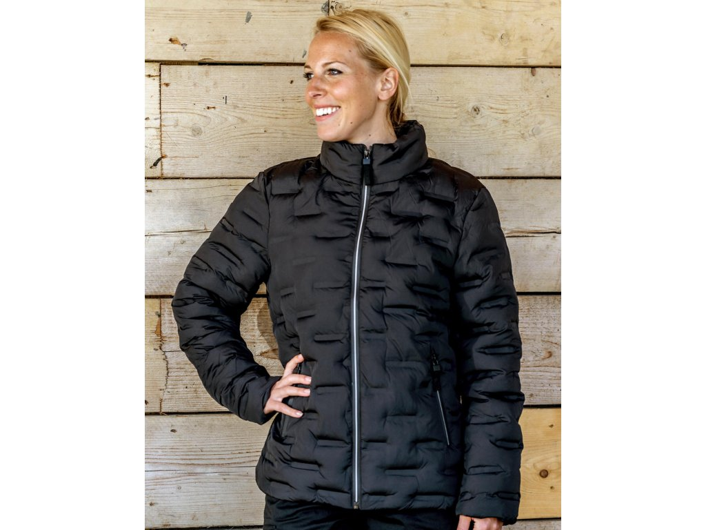 Dámská bunda Ultrasonic Rib Coat (Barva Black, Velikost 3XL)