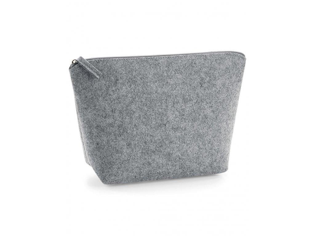 Plstěná taštička na doplňky (Barva Grey Melange, Velikost M)