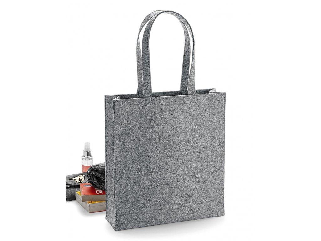 Plstěná taška Tote (Barva Grey Melange, Velikost One Size)