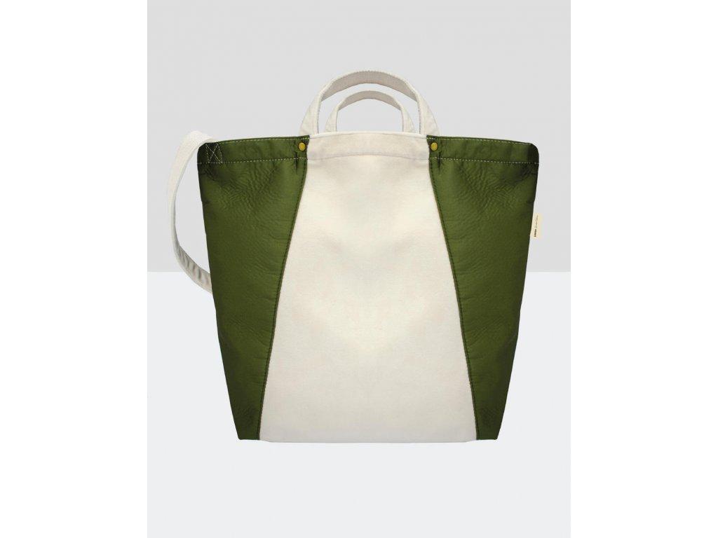 Taška Kiyomi Satin + Velvet (Barva Natural/Olive Green, Velikost One Size)