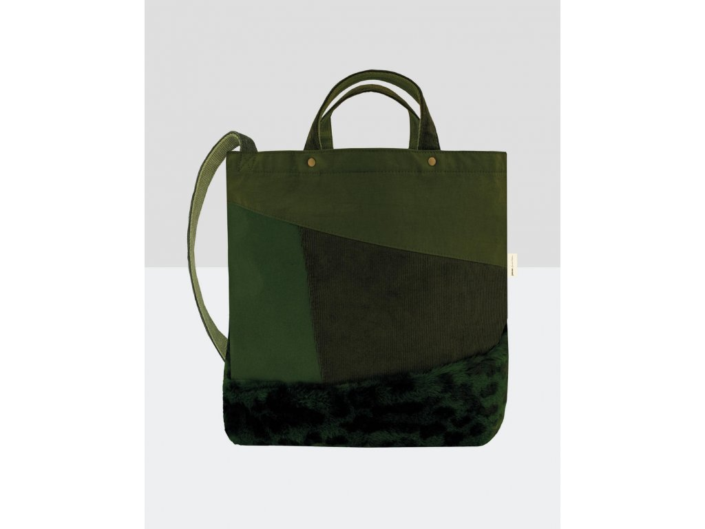 Ramenní taška Satomi Faux Fur (Barva Olive Green, Velikost One Size)