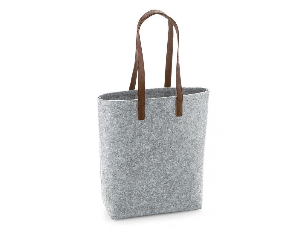 Taška přes rameno Premium Felt Tote (Barva Grey Melange/Tan, Velikost One Size)