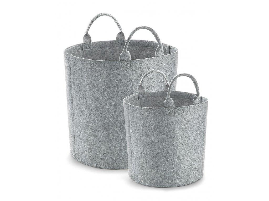 Plštěný úložný koš Felt Trug (Barva Grey Melange, Velikost M)