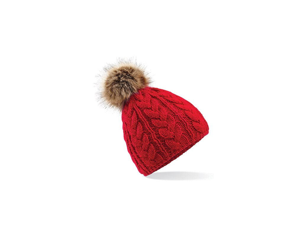 zimní čepice beanie červená