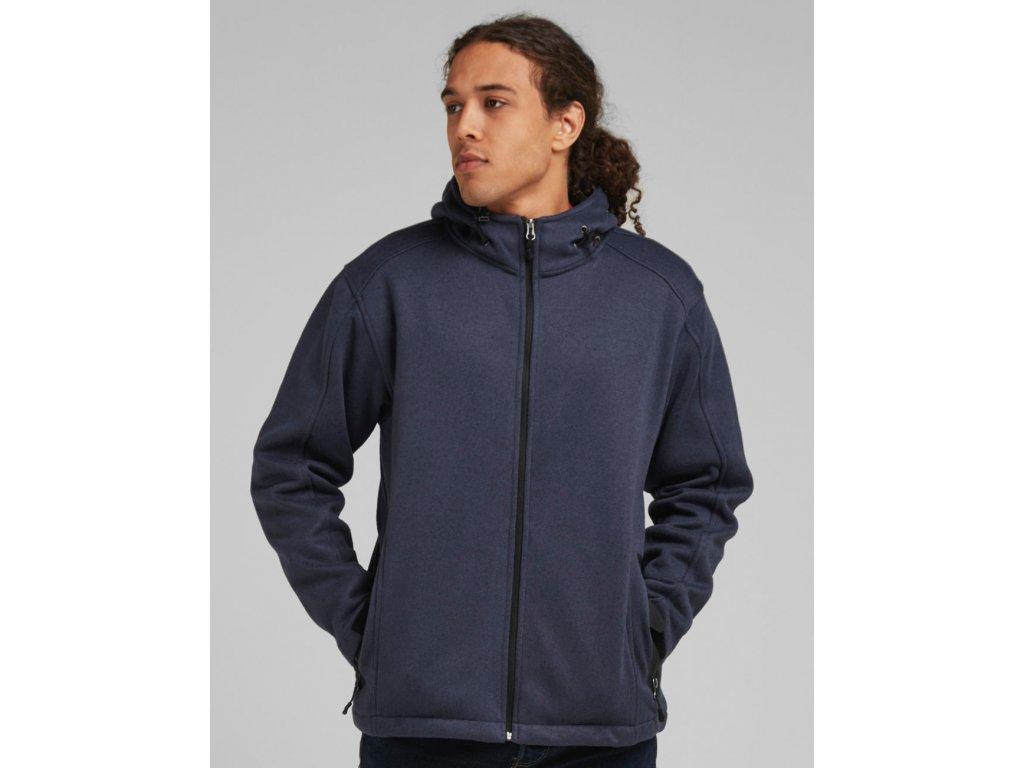 Pletená fleece bunda (Barva Marl Denim/Black, Velikost 3XL)